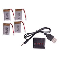 Lo último Nuevo 4Pcs 3.7V 600mAh Lipo Batería + Cargador Para Piezas RC teledirigido Syma X5C-1