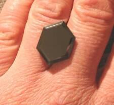 RARE HUGE SIZE 22MM NATURAL BLACK DIAMOND EARTH MINED AFRICA 16.06 CT PLUS COA !