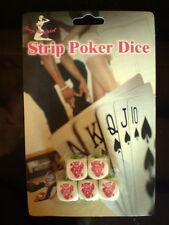 Poker - Würfel 5 Stück - STRIP POKER DICE mit Spielanleitung / NEU Würfelspiel