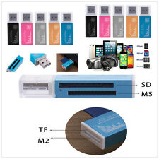 Universal Micro SD SDHC TF M2 MMC MS PRO Multi in 1 USB 2.0 T-Flash Card Reader