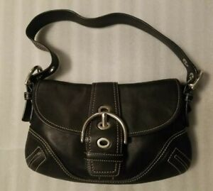 Coach F10188 Small Black Leather Shoulder Bag