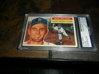 1956 TOPPS #263 Bob Miller DETROIT TIGERS Psa/dna Signed Authentic Autograph