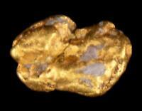 Matrix Specimen Genuine Calif. Alaska Natural Gold Nugget 1.63gr 10.30mm x 7.07m