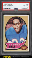 1970 Topps Football O.J. Simpson ROOKIE RC #90 PSA 4 VGEX (PWCC)