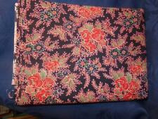 Cotton Fabric-Vint.RED, BLACK & GRAY LARGE FLORAL PRINT  PRINT-2+ yards Cranston