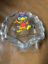 Vintage Los Angeles 1984 Olympics Glass  Trinket Box Olympiad