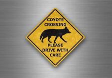 Sticker decal warning car laptop macbook fridge road sign australia coyote usa