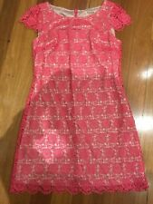 Review Lace Dress Size 10 Pink Very Good Condition Penny5 For 5% Off
