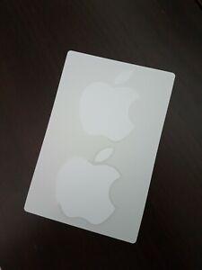 Genuine Original White Apple Logo Stickers x 2  - iPad, iPhone etc