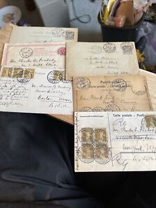 6 Postcards From Philip Peabody Dated From 1894/ 1900's