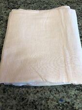 NOS Ralph Lauren Pink Red Pinstripe Queen Flat Sheet 100 % COTTON