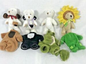 Wee Bear Village GANZ Alligator cat dog sunflower H3786 H3131 lot 4 HTF Bears