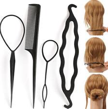 4Pc Braiders Hair Twist Styling Clip Stick Bun Maker Braid Tools Hair Braider