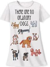 "Relevant animal design cotton sleep shirt ""no ordinary dog"" white one size"