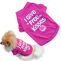 KM_ FT- FT- FP- HK- Fashion Cute Pet Dog T-shirt Small Cat Puppy Summer Shirt