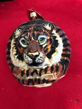 slavic Treasures Collectible Blown Glass Tiger