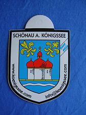 Aufkleber Stadtwappen von Schönau am Königssee im Freistaat Bayern 8 x 6,5 cm