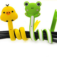 4x Animal Earphone Headphone Wrap Cord Wire Cable Holder Winder Organizer KI