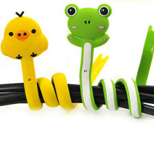 Kawaii Animal Earphone Headphone Wrap Cord Wire Cable Holder Winder OrganizerO6Y