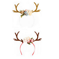Fashion Christmas Reindeer Antlers Headband Girls Kid Deer Costume Ear Hairband