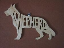 German Shepherd  Dog  Wood Toy Dog Christmas Ornament  Gift Tag