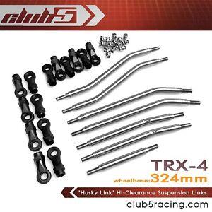 """""""Husky Link"""" Hi-Clearance Suspension Link Kit for TRX-4 2021 Bronco / Defender"""