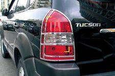 Per HYUNDAI TUCSON 2004 - 2010 CHROME TAIL LIGHT Trim COVER SET