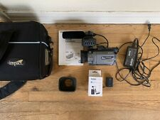 sony pdx-10 mini Dv camcorder kit w/ Case, Hoods, Mic, Battery & Charger - As Is