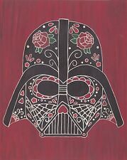 Darth Vader Day of the Dead print 8X10, Comic character and Pop Art