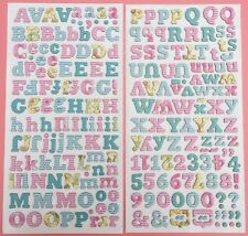 American Crafts Pretty Chipboard Alphabet Thickers Stickers Card Scrapbooking