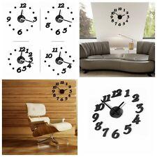 3D Sticker Autocollant DIY Horloge Murale Numérique Décor Maison Salle Moderne