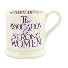 Emma Bridgewater Purple Toast Strong Women Half Pint 0.5pt Mug, Earthenware