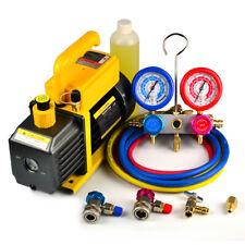 Favorcool 36cfm 14hp Vacuum Pump Ac Manifold Gauge Set Combo R410a R134a R22