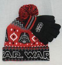 Star Wars Darth Vader Beanie Hat and Gloves Set