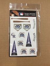 T1) Colorado Rockies Team Tattoo Variety Pack MLB New   Free Shipping