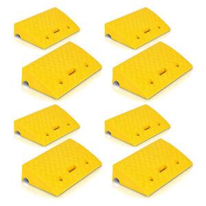Pyle PCRBDR27 Car/Truck Flexible Plastic Curbside Driveway Ramp Kit (8 Pack)