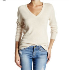 Equipment Ivory Cashmere V Neck Cecile Sweater Size Small