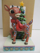 Jim Shore Christmas Rudolph The Red Nosed Reindeer tree figure 6001595 Folk Art