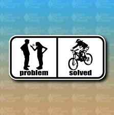 "Problem Solved MTB Mountain Bike Downhill 6"" Custom Vinyl Decal Sticker"