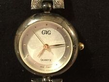 G 'N G Quartz Silver Watch New Battery WORKS Japan Movt Pearl Look Face 7""