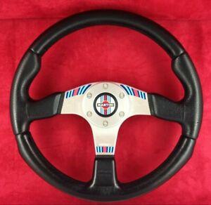 Genuine Momo 350mm Martini Racing black leather steering wheel. Dated 1996.   7A