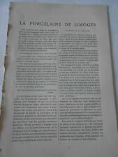 1905 La Porcelaine de Limoges