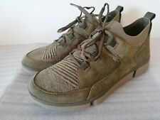 CLARKS TRI VERVE FREE MENS TRIGENIC OLIVE SUEDE COMBI TRAINERS SHOES UK SIZE 7