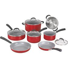 Cuisinart 54C-11R 11pc Ceramic Xt Cookware Red Accs Non-stick (54c11r)