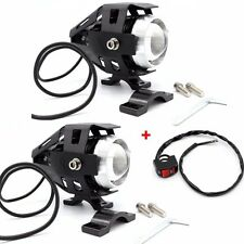 2pcs 125W Motorcycle Motorbike Headlight LED Fog Spot Lights Bulb & Switch RLTS