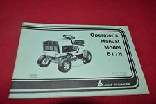 Allis Chalmers 611H Lawn Tractor Operator's Manual YABE16
