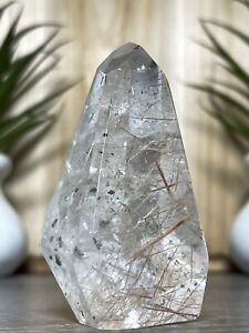 RUTILATED QUARTZ Freeform- Mineral Specimen Chakra Rutile Witch Crystal Decor