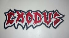 EXODUS Patch Iron/Sew-on Embroidered Thrash Metal Testament Metallica FREE Ship
