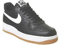 Mens Nike Air Force 1 Trainers Size 7 UK / EU 41 / US 8 Black White Gun Brown