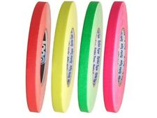 4 Pack Fluorescent Gaffers Stage Tape - Rainbow - 1/2 Inch X 60 Yard